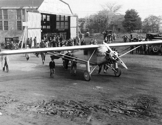 Spirit of St. Louis at Roosevelt Field on May 20, 1927 (? - not sure, photo was labeled
